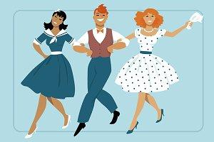 Broadway dancing trio