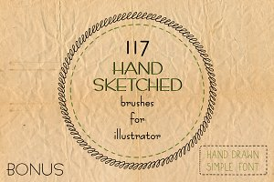 Hand drawn brushes for illustrator