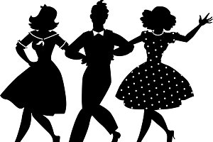 Old-fashion musical clip-art