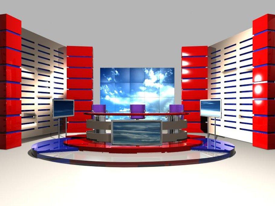 TV News Studio 004