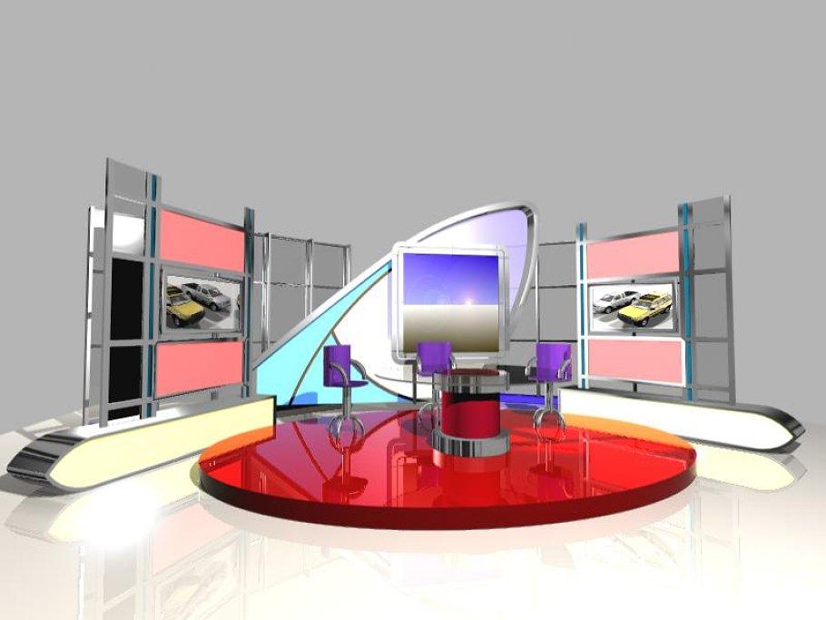TV News Studio 005