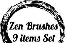 Zen circle brushes 9 shapes set