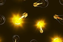 Lighting bulbs with golden light
