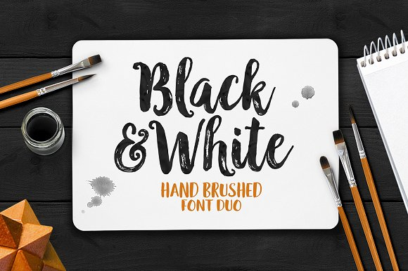 black white font duo script fonts on creative market. Black Bedroom Furniture Sets. Home Design Ideas