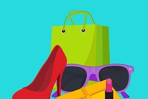 shopping concept, vector