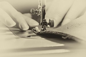Retro Sewing Process