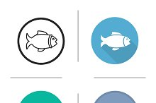 Fish icons. Vector
