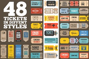 Set of 48 tickets