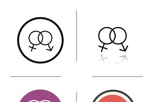 Sex symbols icons. Vector