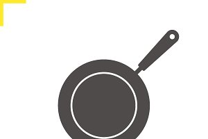Frying pan icon. Vector