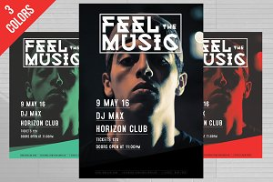 Feel The Music DJ Flyer