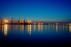 Seaport At Night