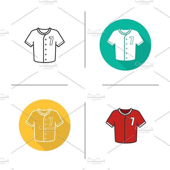 Baseball shirt icons. Vector - Icons