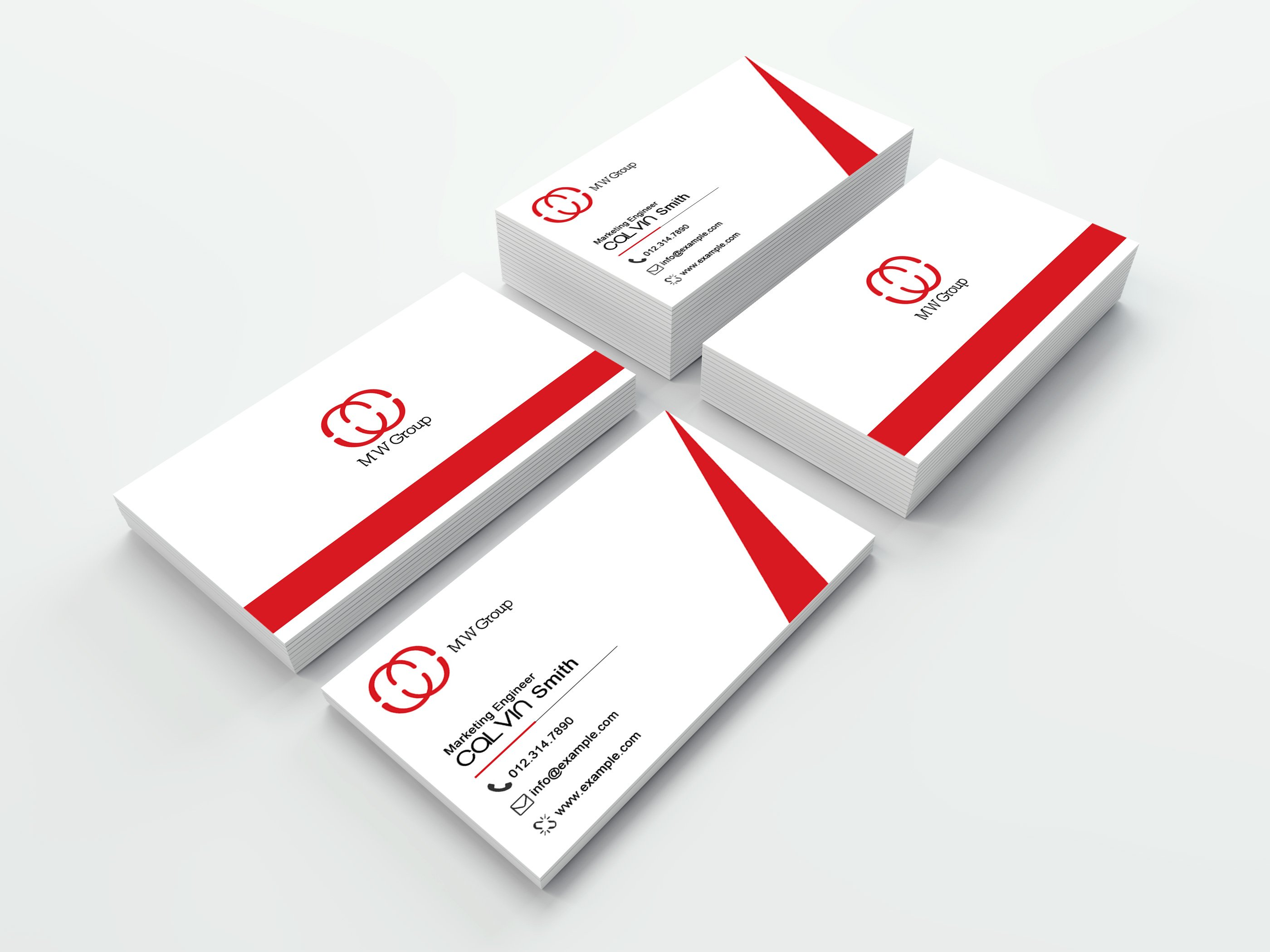 Simple individual business card business card templates creative corporate business card template reheart Image collections