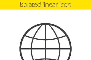 Globe icon. Vector