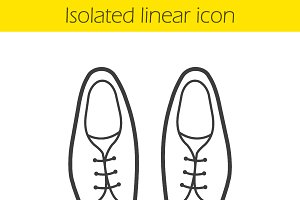 Men's shoes icon. Vector