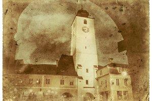Medieval City Vintage Photo