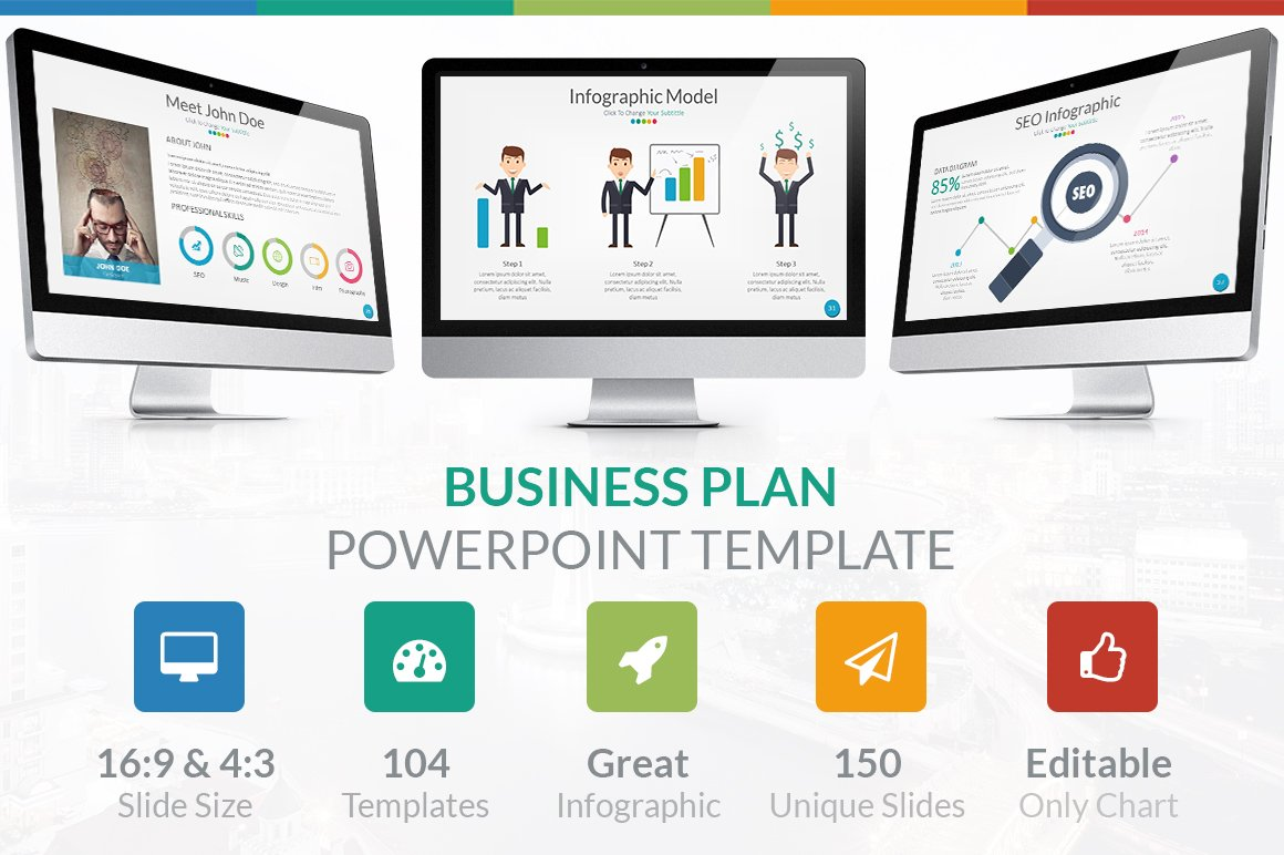 Business plan powerpoint template presentation templates business plan powerpoint template presentation templates creative market accmission Images
