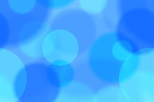 Blue bokeh abstract seamless pattern