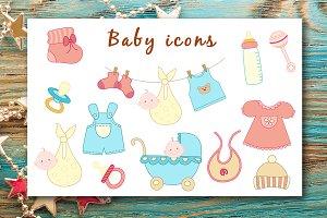 Baby icons set