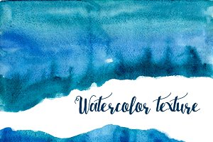 Watercolor waves background