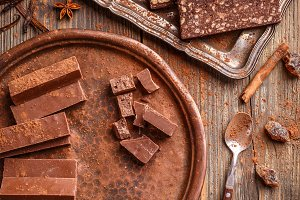 Homemade chocolate sweets