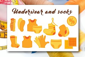 Сlothes and underwear icons