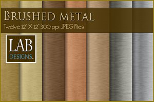 12 Brushed Metal Textures