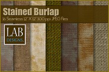16 Stained Burlap Textures