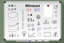 Whiteboard big set. Vector