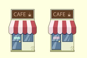 Simple cafe icon. Vector