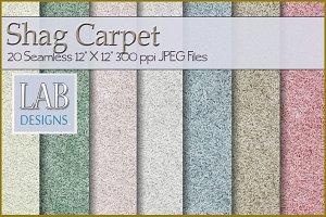20 Seamless Shag Carpet Textures