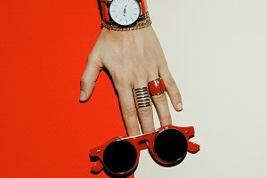 Watches, Sunglasses, Rings
