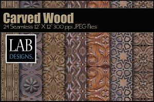 24 Seamless Carved Wood Textures