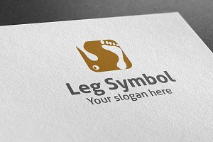Leg Symbol Logo