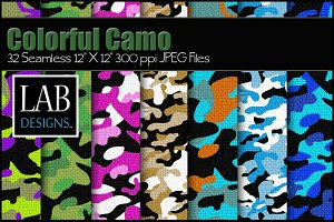 32 Seamless Camouflage Textures