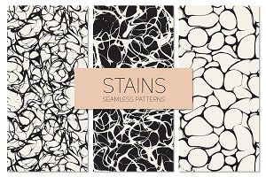 Stains. Seamless Patterns Set