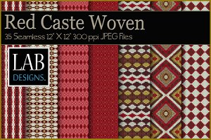 35 Red Caste Woven Fabric Textures