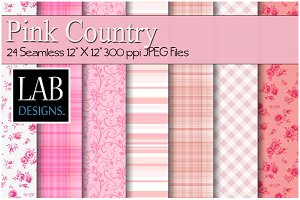 24 Seamless Pink Country Textures