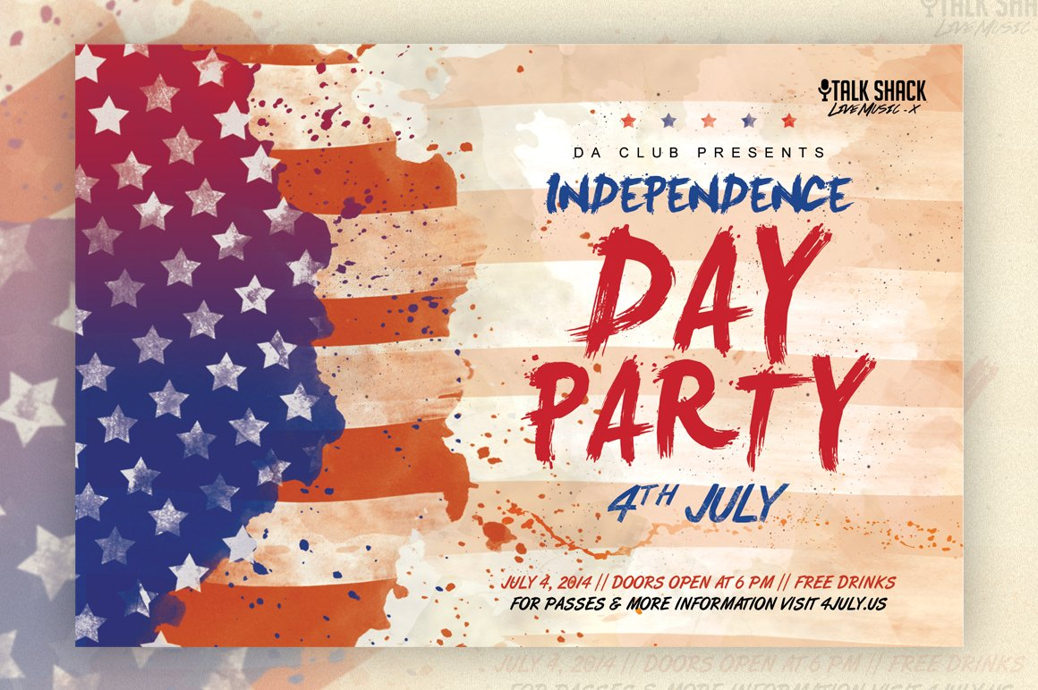 veteran s day 4th of july flyer flyer templates creative market