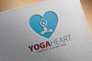 Yoga Heart Logo
