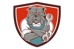 Bulldog Mechanic Arms Crossed Spanne