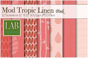 12 Modern Linen Fabric Textures Pink