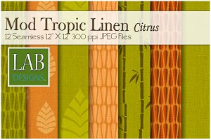 12 Mod Linen Fabric Textures Citrus