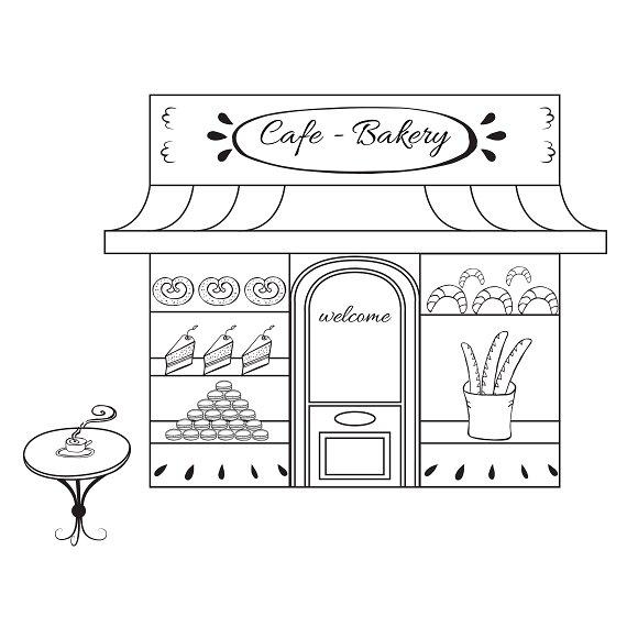 Backery shop icon in black.