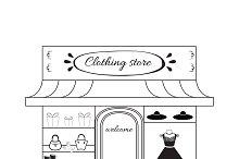 Women cloth boutique icon.
