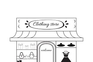 Women cloth boutique icon.