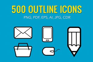 500 Outline Icons