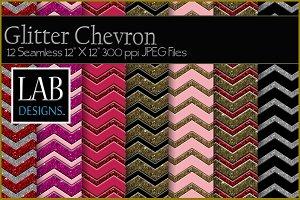 12 Glitter Chevron Textures