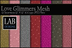 Love Glimmers Mesh Fabric Textures